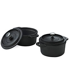 2-Pc. Cast Iron Mini Dutch Ovens