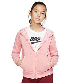 Big Girls Zip-Up Fleece Hoodie