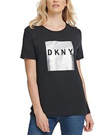 Metallic Block-Logo T-Shirt