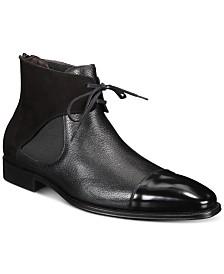 Mezlan Men's Mixed-Media Cap-Toe Boots
