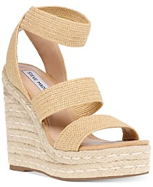 Steve Madden Women's Shimmy Platform Espadrille Wedge Sandals