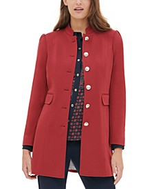 Mandarin-Collar Topper Jacket