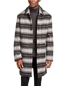 INC Men's Bradley Jacquard Overcoat, Created For Macy's