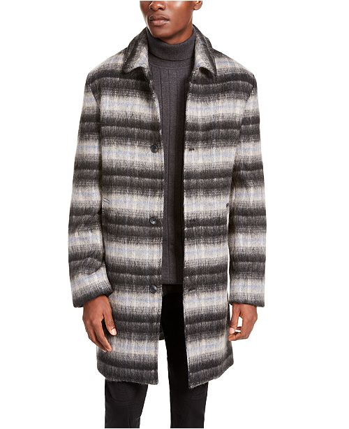 INC International Concepts INC Men's Bradley Jacquard Overcoat, Created For Macy's