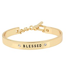 Rose Gold 'BLESSED' Affirmation Toggle Bracelet