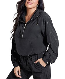 GUESS Sasha Hooded Pullover Track Jacket