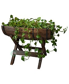 Gardenised Half Barrel Planter with Stand