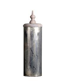 Aladin Vase Lid Finished in Vintage-Inspired Distressed Zinc Lota