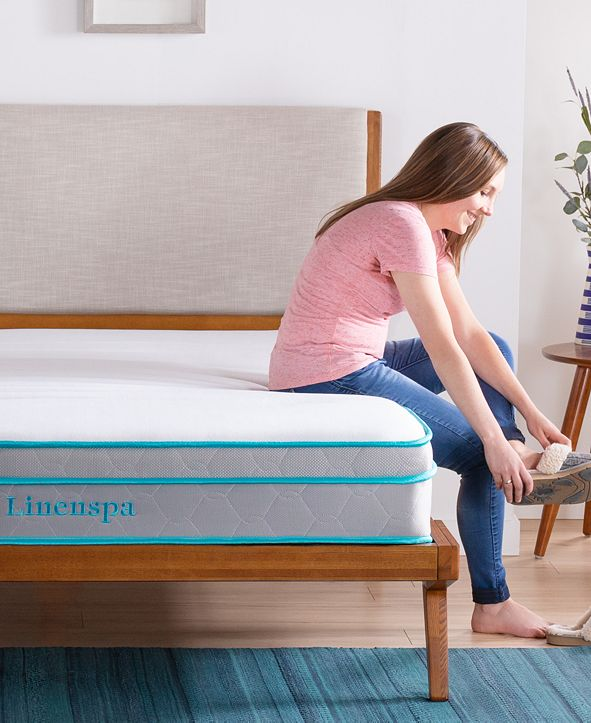 "Linenspa Collection 10"" Alwayscool Memory Foam Hybrid Mattress, California King"