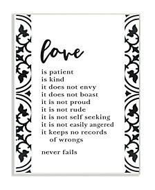 "Love Is Patient Love Is Kind Wall Plaque Art, 10"" x 15"""