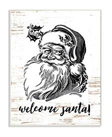 Christmas Welcome Santa Farmhouse Wall Art Collection