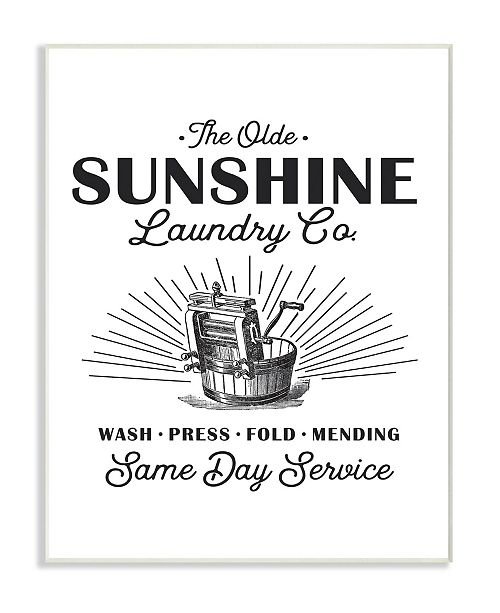 """Stupell Industries Olde Sunshine Laundry Co Vintage-Inspired Sign Wall Plaque Art, 12.5"""" x 18.5"""""""