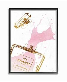 Glam Perfume Bottle Splash Pink Gold Wall Art Collection
