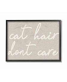 """Cat Hair Don't Care Framed Giclee Art, 11"""" x 14"""""""