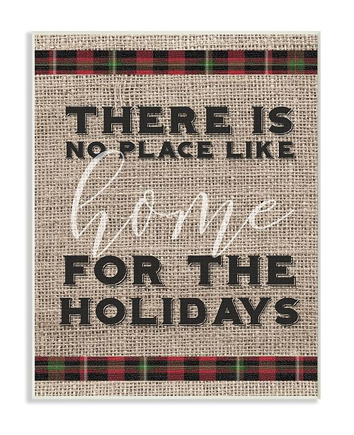 """Stupell Industries No Place Like Home for the Holidays Wall Plaque Art, 12.5"""" x 18.5"""""""