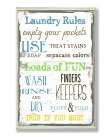 """Stupell Industries Home Decor Laundry Rules Typography Bathroom Wall Plaque Art, 12.5"""" x 18.5"""""""