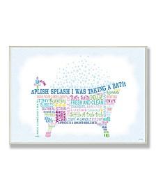 "Stupell Industries Home Decor Splish Splash Typography Bathroom Wall Plaque Art, 12.5"" x 18.5"""