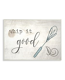 """Stupell Industries Whip It Good Whisk Wall Plaque Art, 12.5"""" x 18.5"""""""