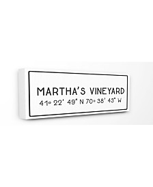 "Stupell Industries Plate City Coordinates Martha's Vineyard Canvas Wall Art, 10"" x 24"""