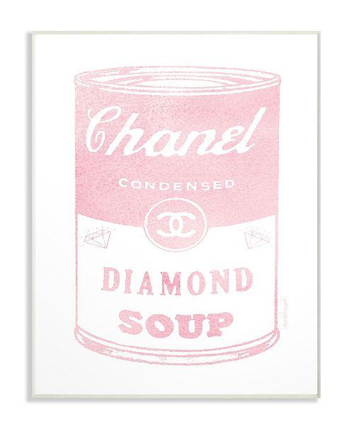 "Stupell Industries Fashion Diamond Soup Wall Plaque Art, 10"" x 15"""