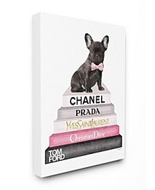 Book Stack Fashion French Bulldog Art Collection
