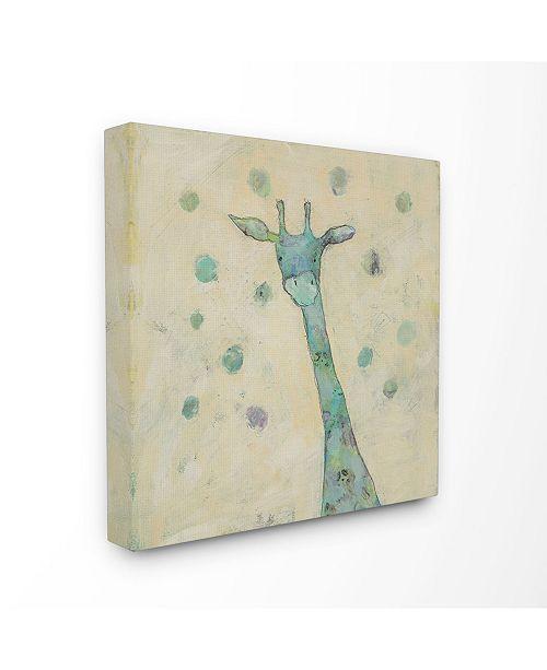 """Stupell Industries Giraffe Painterly Doodle XL Canvas Wall Art, 30"""" x 30"""""""