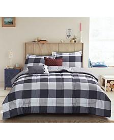 Brown & Grey Samuel 6-Piece Comforter Set - Full