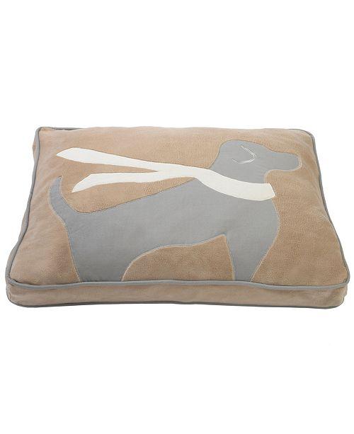 Precious Tails Plush Fleece Fiber Dog Scarf Pillow Style Pet Bed