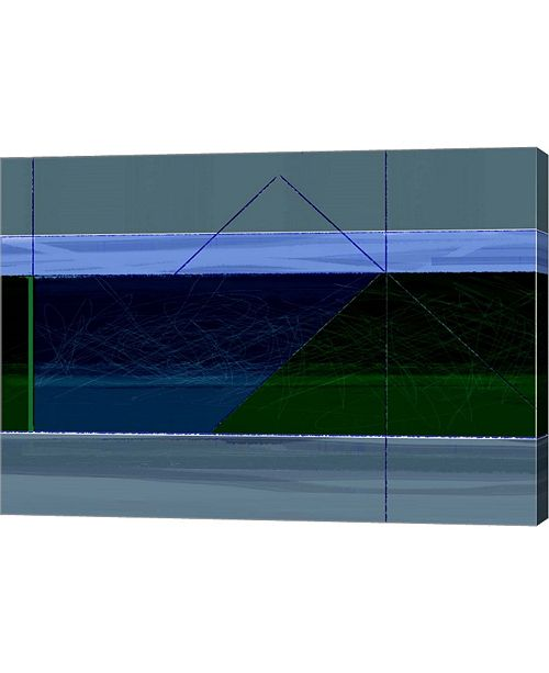"""Metaverse Blue and Green by Naxart Canvas Art, 28.5"""" x 20"""""""