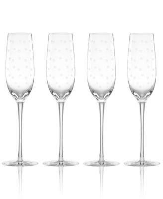 Set of 4 Larabee Dot Flutes