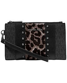 Jet Set Double Zip Wristlet