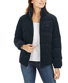 Zip-Up Cotton Corduroy Puffy Jacket