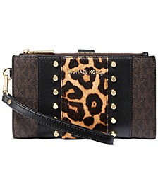 Jet Set Double-Zip Wristlet