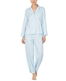 Women's Printed Sateen Pajama Set