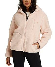 Switchback Faux-Sherpa Hooded Jacket