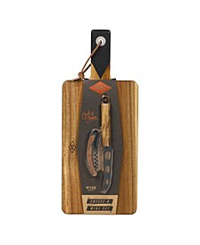 Cheese Board and Knife Set with Wine Opener