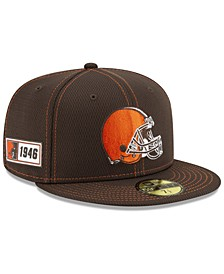 Cleveland Browns On-Field Sideline Road 59FIFTY-FITTED Cap