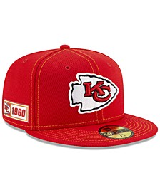 Kansas City Chiefs On-Field Sideline Road 59FIFTY-FITTED Cap