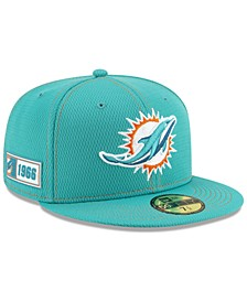 Miami Dolphins On-Field Sideline Road 59FIFTY-FITTED Cap