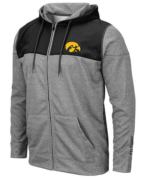 Colosseum Men's Iowa Hawkeyes Nelson Full-Zip Hooded Sweatshirt