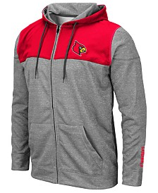 Colosseum Men's Louisville Cardinals Nelson Full-Zip Hooded Sweatshirt