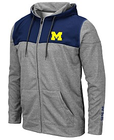Colosseum Men's Michigan Wolverines Nelson Full-Zip Hooded Sweatshirt