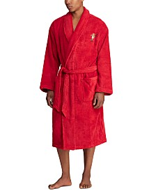 Polo Ralph Lauren Men's Polo Bear Terry Bathrobe, Created for Macy's