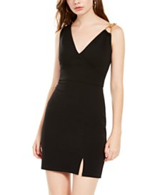 Teeze Me Juniors' Chain-Strap Sheath Dress