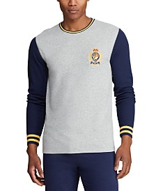 Polo Ralph Lauren Men's Logo Crest Waffle Pajama Shirt, Created for Macy's