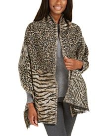 Michael Michael Kors Patchwork Animal Wrap