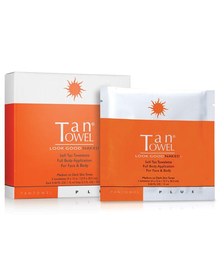 TanTowel - Tan Towel Full Body Plus, 5 Pack