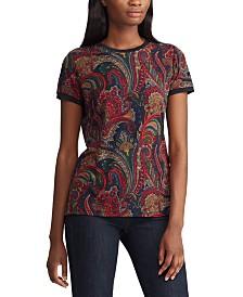 Lauren Ralph Lauren Paisley-Print Stretch T-Shirt