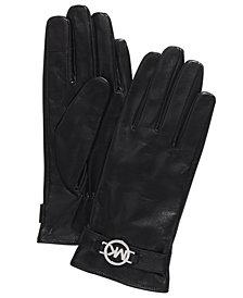 Michael Michael Kors Leather Ornament Gloves