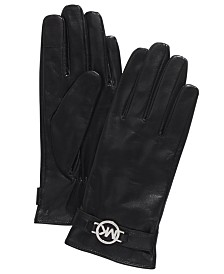 Michael Michael Kors Leather Ornament Gloves